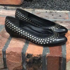 Loeffler Randall Black Studded Flats size 7
